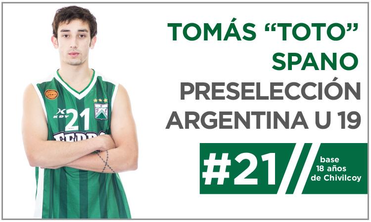 Tomás Spano a la Preselección U19
