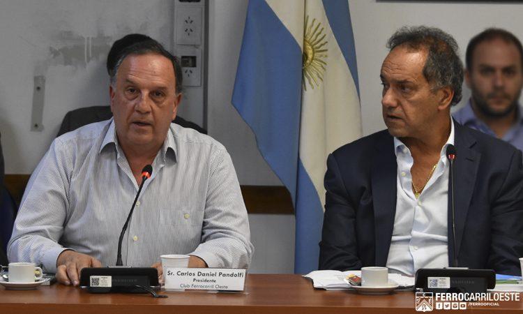 Daniel Pandolfi en la Comisión de Deportes